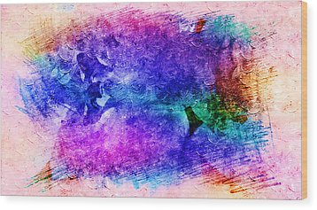 Purple Petals In Abstract Concept  Wood Print