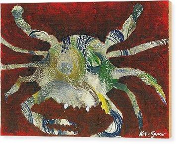 Abstract Crab Wood Print