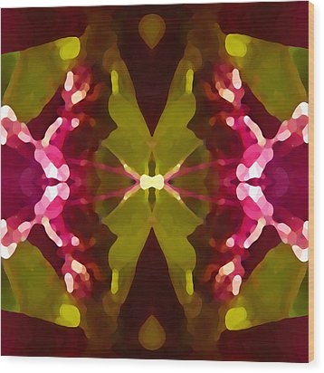 Abstract Crystal Butterfly Wood Print by Amy Vangsgard