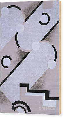 Abstract Design From Nouvelles Compositions Decoratives Wood Print by Serge Gladky