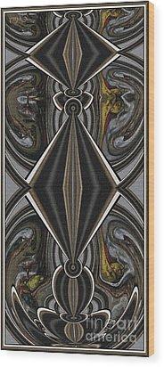 Abstract Door  Ad00001 Wood Print by Pemaro
