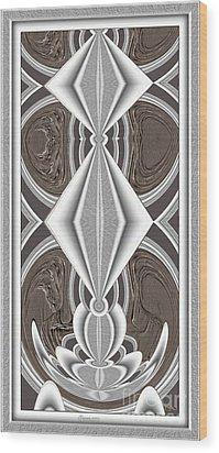 Abstract Door  Ad02 Wood Print by Pemaro