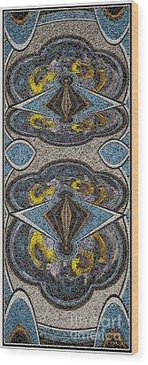 Abstract Door  Adoor000001 Wood Print by Pemaro
