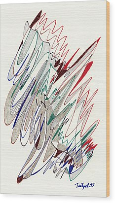 Abstract Drawing Fifty-one Wood Print by Lynne Taetzsch