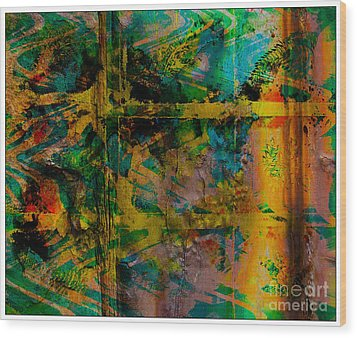 Abstract - Emotion - Facade Wood Print by Barbara Griffin