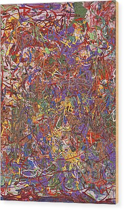 Abstract - Fabric Paint - String Theory Wood Print by Mike Savad