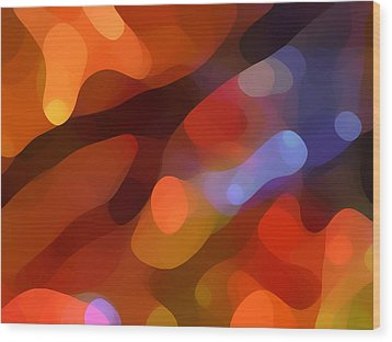 Abstract Fall Light Wood Print by Amy Vangsgard