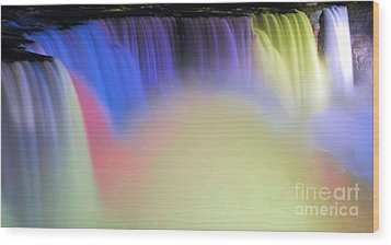 Abstract Falls Wood Print by Kathleen Struckle