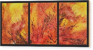 Abstract Fireplace Wood Print by Irina Sztukowski