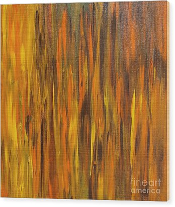 Wood Print featuring the painting Abstract Fireside by Susan  Dimitrakopoulos