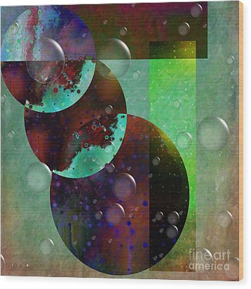 Abstract - Floaters Wood Print by Liane Wright