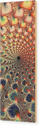 Abstract Floral Fractal Art Tall And Narrow Wood Print by Matthias Hauser