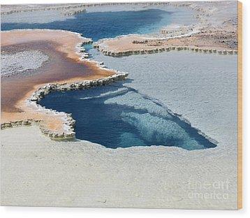 Abstract From The Land Of Geysers. Yellowstone Wood Print by Ausra Huntington nee Paulauskaite