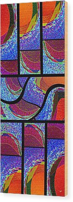 Abstract Fusion 168 Wood Print by Will Borden