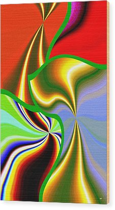Abstract Fusion 200 Wood Print by Will Borden