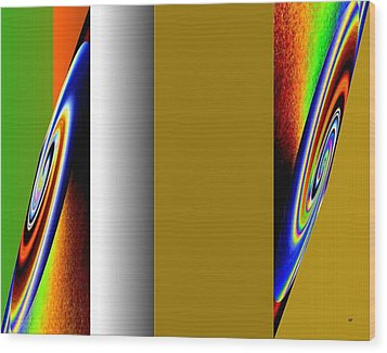 Abstract Fusion 211 Wood Print by Will Borden
