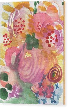 Abstract Garden #44 Wood Print by Linda Woods