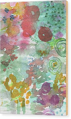 Abstract Garden Wood Print by Linda Woods
