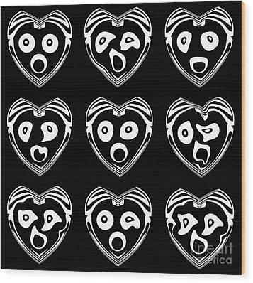Abstract Geometry Black White Art No.340. Wood Print by Drinka Mercep