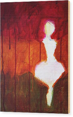 Abstract Ghost Figure No. 2 Wood Print