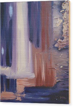 Wood Print featuring the painting Abstract I by Donna Tuten