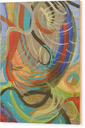 Abstract I Wood Print by Julie Crisan