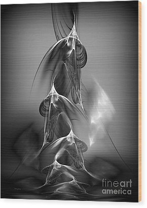 Abstract In Black And White Wood Print by Greg Moores