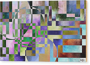 Wood Print featuring the painting Abstract In Lavender by Curtiss Shaffer