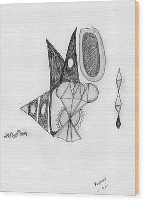 Abstract In Pencil Wood Print by Dan Twyman