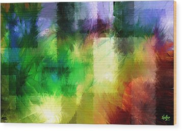 Wood Print featuring the painting Abstract In Primary by Curtiss Shaffer