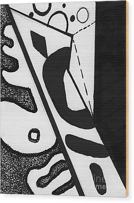 Abstract Jewelry Pin 5 Wood Print by Christine Perry