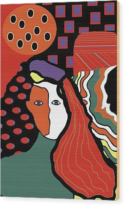 Abstract Lady Wood Print