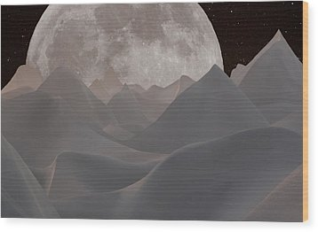 Abstract Landscape #3 Wood Print by Wally Hampton