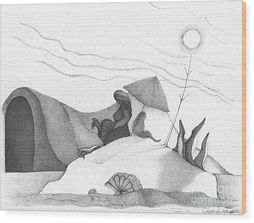 Abstract Landscape Art Black And White Beach Cirque De Mor By Romi Wood Print by Megan Duncanson