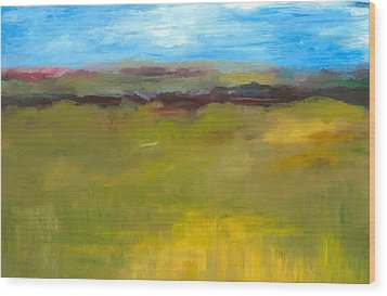 Abstract Landscape - The Highway Series Wood Print by Michelle Calkins
