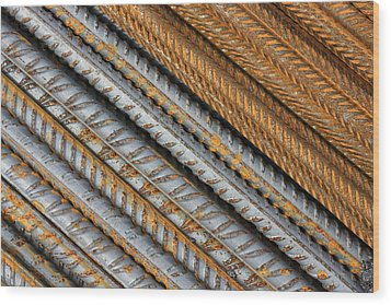 Abstract Metal Texture Pattern Wood Print