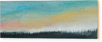 Abstract Minimalist Horizon Wood Print by R Kyllo