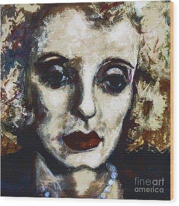 Abstract Modern Bette Davis Wood Print by Ginette Callaway