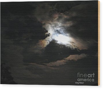 Abstract Moon Wood Print by Greg Patzer