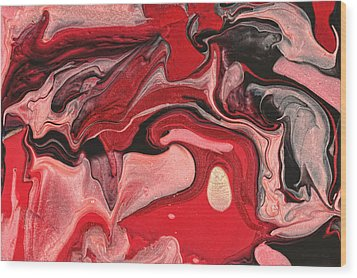 Abstract - Nail Polish - Raspberry Nebula Wood Print by Mike Savad