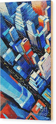 Abstract New York Sky View Wood Print