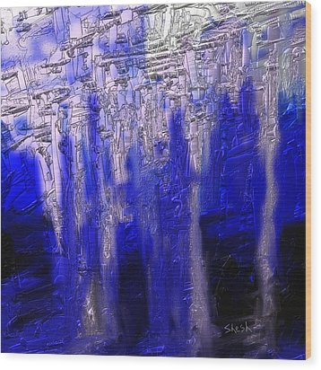 Abstract No. 55 Wood Print by Shesh Tantry