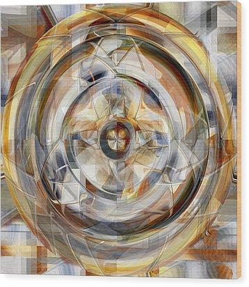 Wheel - 32 Wood Print by rd Erickson