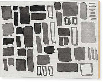 Abstract Open Windows Wood Print by Linda Woods