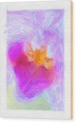 Abstract Orchid Pastel Wood Print by Antony McAulay