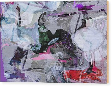 Abstract Organic Intuitive # 11 Wood Print by Ginette Callaway