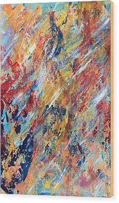 Abstract Painting Wood Print by AR Annahita