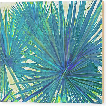 Abstract Palm 2 Wood Print by Jane Schnetlage