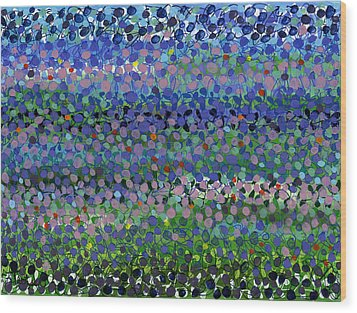 Abstract Patterns Four Wood Print by Lynne Taetzsch
