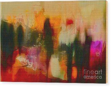 Wood Print featuring the photograph Abstract People by Danica Radman